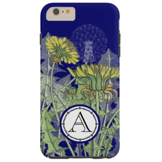 Monogram Vintage Modern Dandilion Flower iphone Tough iPhone 6 Plus Case