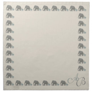 Monogram Vintage Natural Color Elephant Boudures Napkin