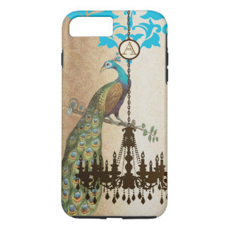 Monogram Vintage Peacock Chandelier Damask iPhone iPhone 7 Plus Case