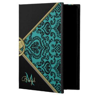 Monogram Vintage Teal Damask Celtic Triskele Powis iPad Air 2 Case