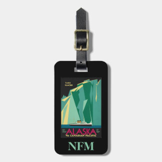 Monogram Vintage Travel Alaska Glacier Cruise Ship Luggage Tag