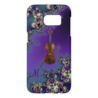 Monogram Violin Love Music Samsung Galaxy S7 Case