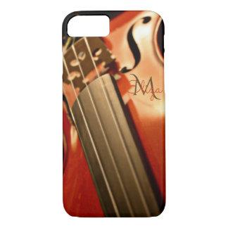 Monogram Violin Music iPhone 7 Case