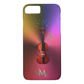 Monogram Violin Music Notes Metallic iPhone 7 Case