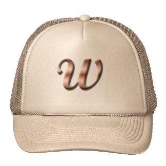 Monogram W Hat