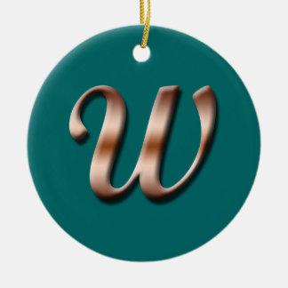 Monogram W Ornament