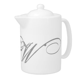 Monogram W Teapot