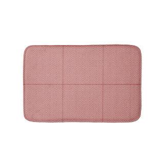 Monogram Warm Pastel Chevron Bath Mat