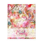 Monogram Watercolor Floral Pattern Abstract Sketch