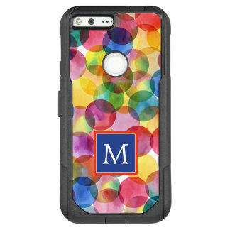 Monogram | Watercolor Polka Dots OtterBox Commuter Google Pixel XL Case