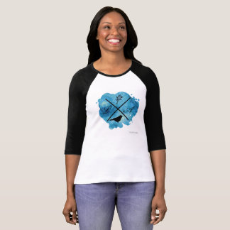 Monogram watercolor shirt in blue
