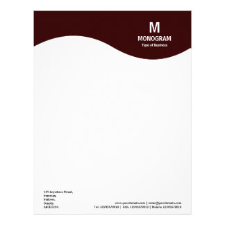 Monogram Wave - Dark Brown 330000 Letterhead