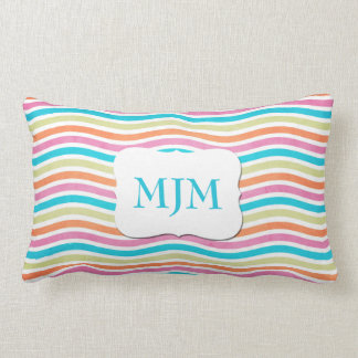 Monogram Wavy Stripes Lumbar Pillow