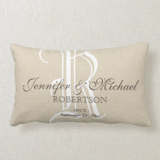 Monogram Wedding / Anniversary Pillow
