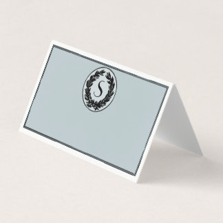 Monogram Wedding Folded Seating Card