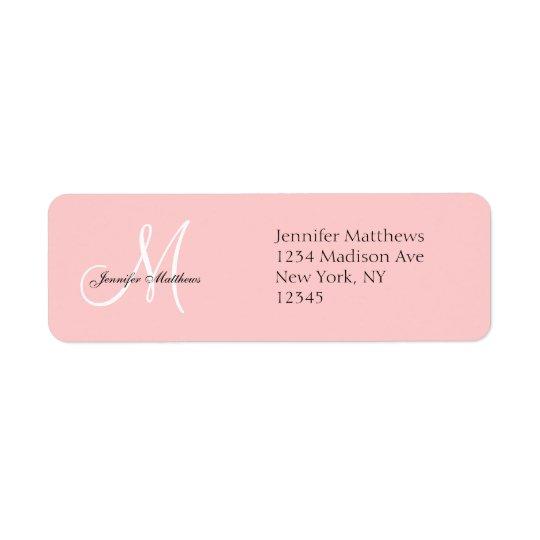 Monogram Wedding Invitation Return Address Labels