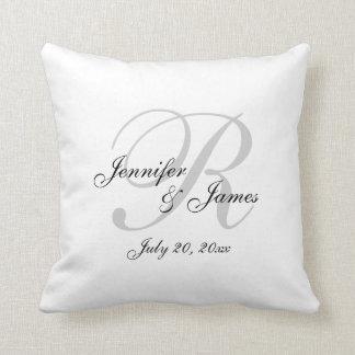Monogram Wedding Keepsake Pillow