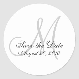 Monogram Wedding Save the Date Seal Sticker