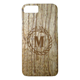 Monogram Western Wood n Rope Look iPhone 7 Case