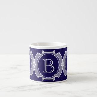 Monogram white frame espresso mug