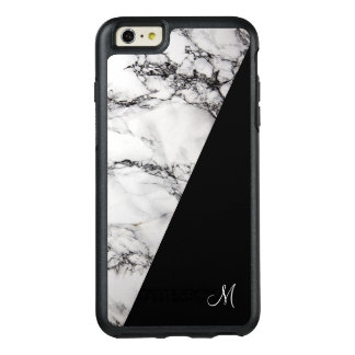 Monogram White Gray And Black Marble Stone Texture OtterBox iPhone 6/6s Plus Case