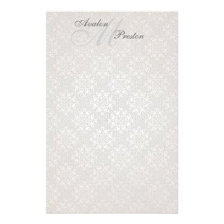 Monogram White Lace Wedding Stationery