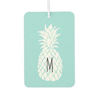 monogram white pineapple air freshener
