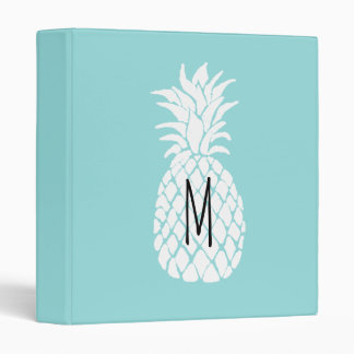 monogram white pineapple binder