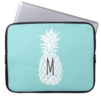 monogram white pineapple computer sleeves