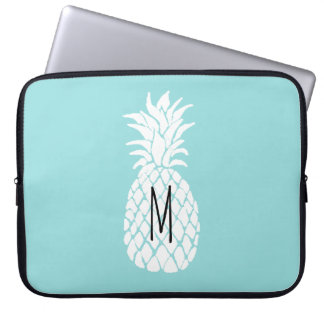 monogram white pineapple laptop sleeve