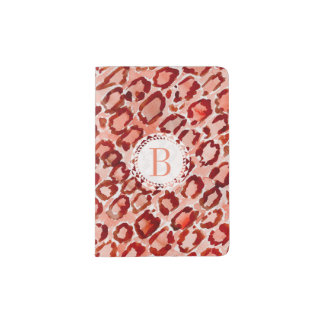 Monogram WILD CAT Leopard Skin Animal Print Passport Holder