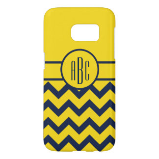 Monogram with Maize and Blue Design Samsung Galaxy S7 Case