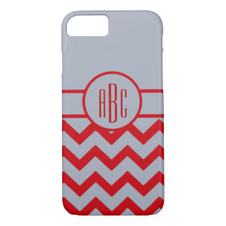 Monogram with Scarlet and Gray Design iPhone 8/7 Case