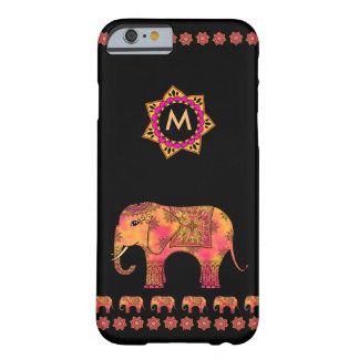 Monogram with Tangle Pattern Eastern Elephant Barely There iPhone 6 Case