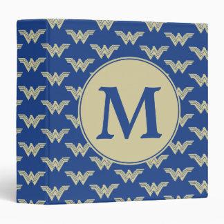 Monogram Wonder Woman Logo Pattern 3 Ring Binder