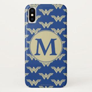 Monogram Wonder Woman Logo Pattern Case-Mate iPhone Case