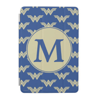 Monogram Wonder Woman Logo Pattern iPad Mini Cover