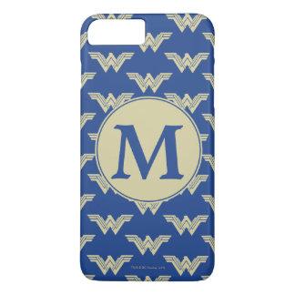 Monogram Wonder Woman Logo Pattern iPhone 8 Plus/7 Plus Case