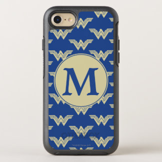 Monogram Wonder Woman Logo Pattern OtterBox Symmetry iPhone 8/7 Case