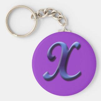 Monogram X Keychain