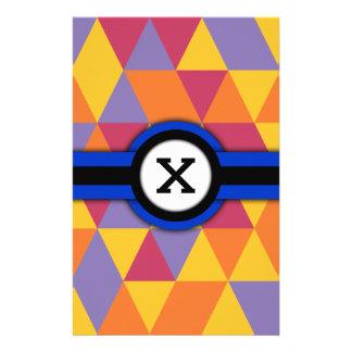 Monogram X Stationery