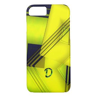 Monogram Yellow Geometric iPhone 7 case