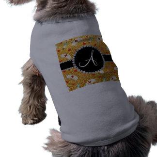 Monogram yellow glitter nurse hats heart doggie shirt