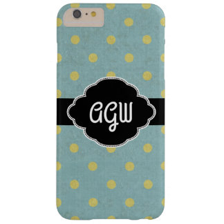 Monogram | Yellow Polka Dots Barely There iPhone 6 Plus Case