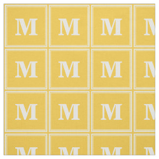 Monogram yellow stripes fabric
