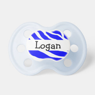 Monogram Zebra Boys Pacifier