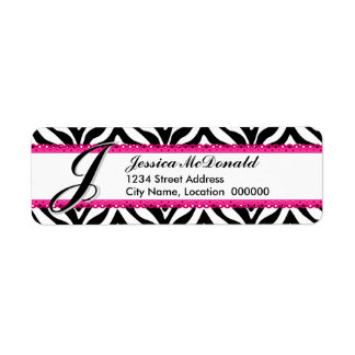 Monogram Zebra Print and Pink Lace