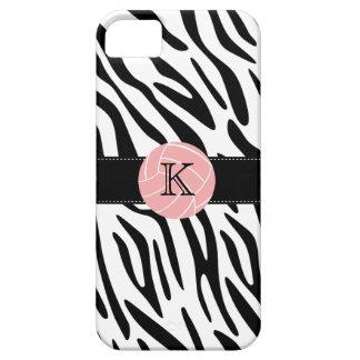 Monogram Zebra Print Volleyball iPhone 5 Case