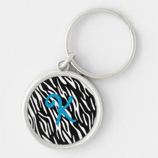 Monogram Zebra Stripes Key Chain