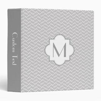 Monogram zhigaki pattern binder - grey